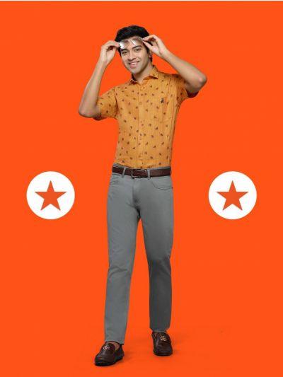 ZF Men's Readymade Formal Linen Shirt - MGA8101081