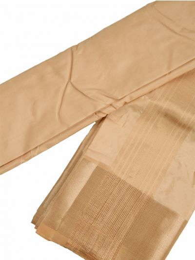 Vivaha Traditional Pure Silk  Dhoti Shirt Material and Angavastram Set - NLA4916637