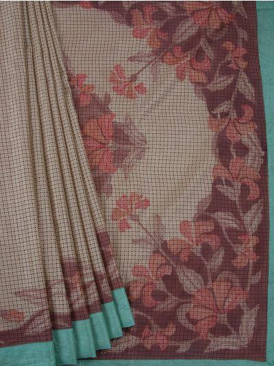 MGB8789486 - Flower Design Dupion Tussar Silk Saree