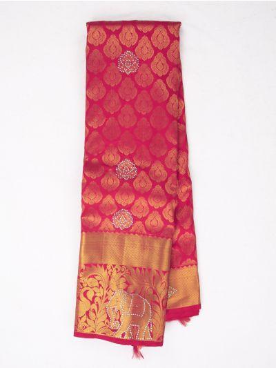 MEC7188744 - Vivaha Wedding Stone work Silk Saree