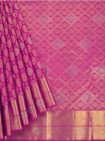 MEC7188741 - Vivaha Wedding Stone work Silk Saree