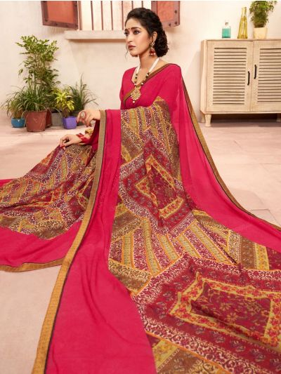Women's Fancy Printed Georgette Saree - MIA2754822