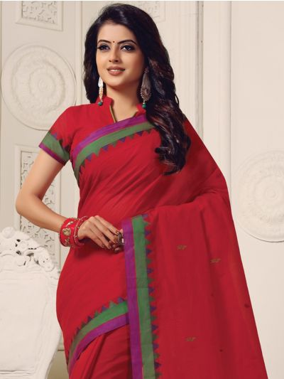 Naachas Fancy Cotton Saree