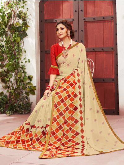Women's Fancy Printed Georgette Saree - MIA2754815
