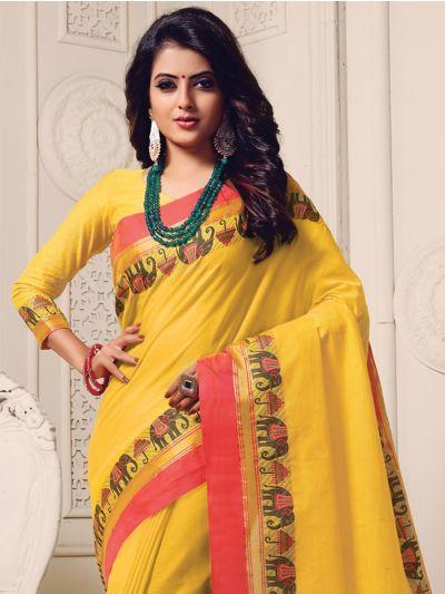 Naachas Fancy Cotton Saree
