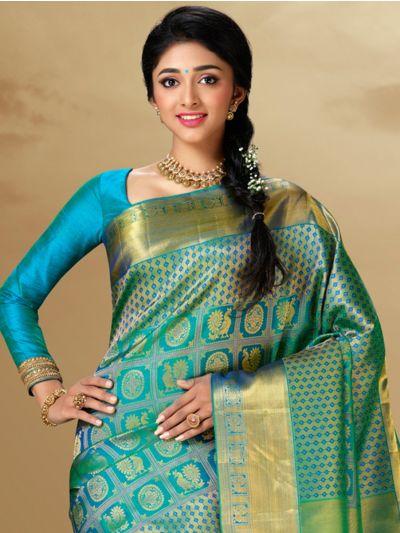 Vivaha Goddess Kanchipuram Handloom Pure Silk Saree