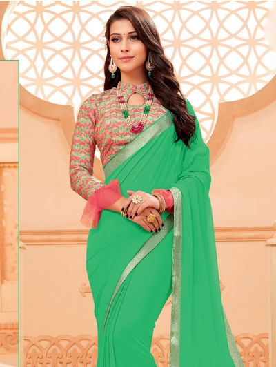 Kathana Fancy Chiffon Saree-LIL1024