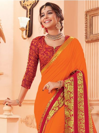 Kathana Fancy Chiffon Saree-MED9186743