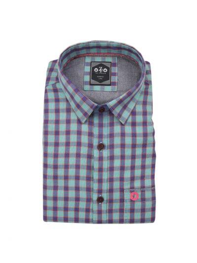 ZF Men's Readymade Casual Cotton Shirt-EKM