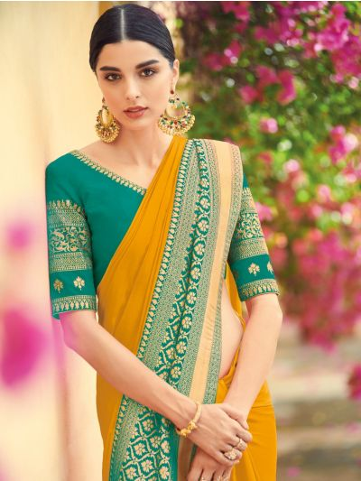 Exclusive Designer Party Wear Saree With Designer Blouse - EDP1088
