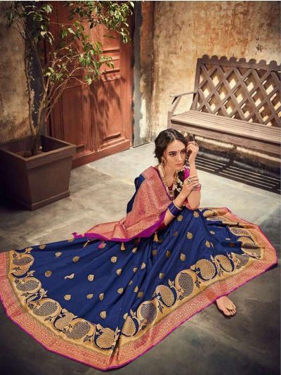 Fancy Semi Jute Saree - RGSS1104