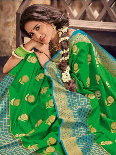 Fancy Semi Jute Saree - RGSS1109