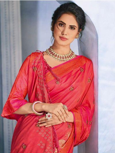 Kathana Fancy Raw Silk With Stone Work Saree-MFB6339929