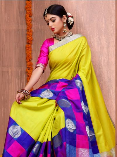 Bairavi Traditional  Multi Color Border Silk Saree