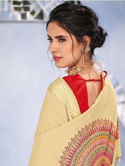 Kathana Fancy Raw Silk With Stone Work Saree-MYR1158