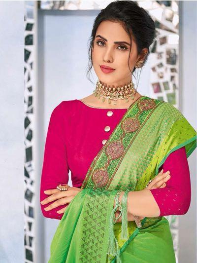 Kathana Fancy Raw Silk With Stone Work Saree-MYR1160