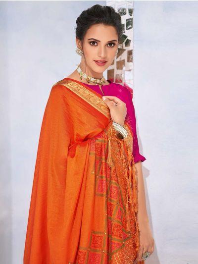Kathana Fancy Raw Silk With Stone Work Saree-MYR1161