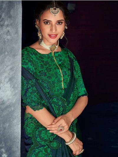Kathana Fancy Raw Silk Embroidery Saree-KRFS4511