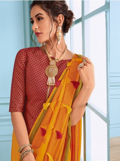 Kathana Fancy Raw Silk Saree - MHB1593100