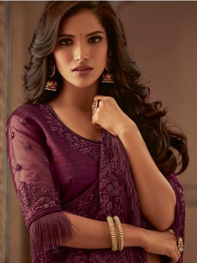 Sahithyam Designer Party Wear Satin Saree-PWS1601
