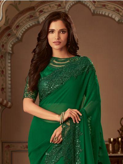 Sahithyam Designer Party Wear Satin Saree-PWS1606