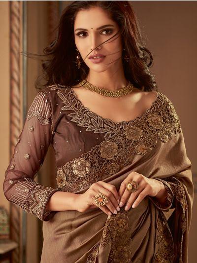 Sahithyam Designer Party Wear Satin Saree-MFB6637165