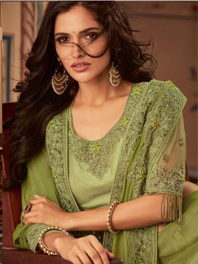 Sahithyam Designer Party Wear Satin Saree-PWS1615
