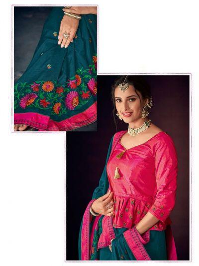 Kathana Fancy Raw Silk Embroidery Saree-KRFS4516