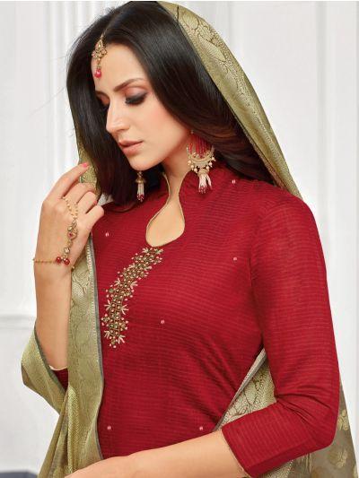 Isabella Women's South Silk Cotton Dress Material-MBC6640272