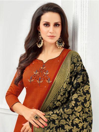 Isabella Women's South Silk Cotton Dress Material