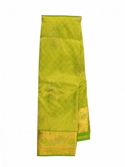 NIC6605348 - Traditional Silk Stone Work Saree