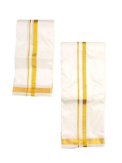 Vivaha Pure Fancy Border Silk Shirt & Dhothi Set - NJC0928301