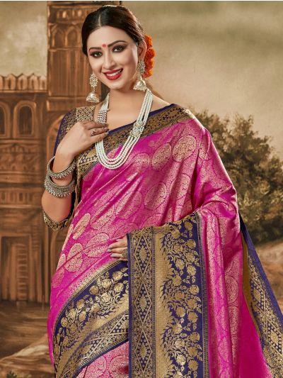 Kathana Exclusive Semi Banarasi Silk Saree
