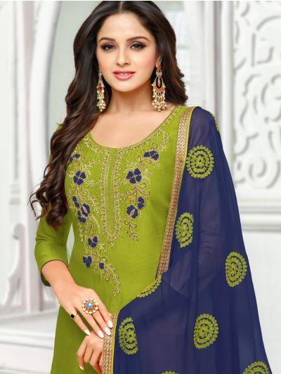 Isabella Women's Cotton Slub Dress Material