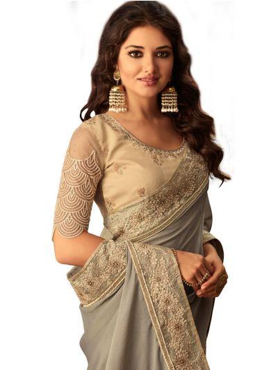 Kathana Exclusive Shimmer Chiffon Saree-SCS3909