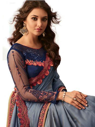 Kathana Exclusive Shimmer Chiffon Saree-SCS3910