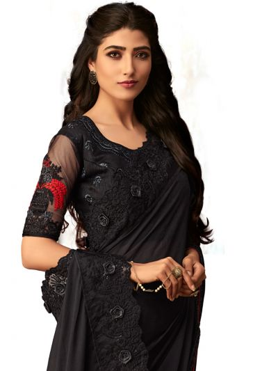 Kathana Exclusive Shimmer Chiffon Saree