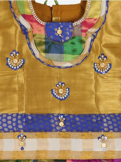 Girls Ready Made Art Silk Pavadai Set - GPP5003