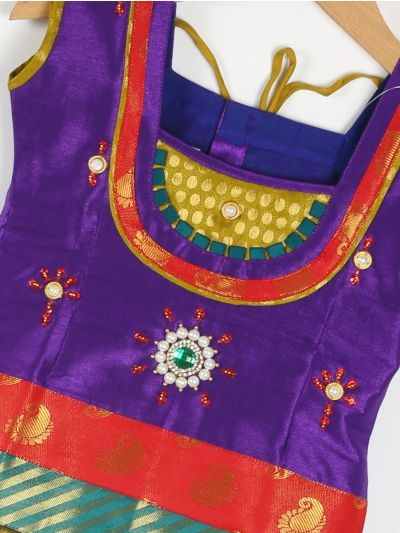 Girls Ready Made Art Silk Pavadai Set - GPP5005