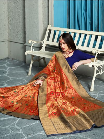 MIB3662992 - 5491 - Fancy Zari Woven Softy Silk Saree