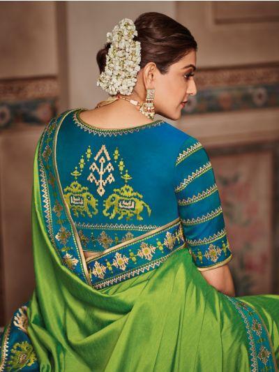 Exclusive Designer Party Wear Saree With Designer Blouse - SKK710