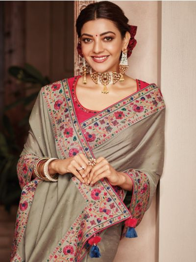Exclusive Designer Party Wear Saree With Designer Blouse-MFB5211818