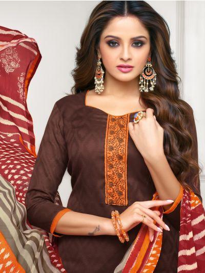 Isabella Women's Cotton Slub Dress Material - WCSDM9001