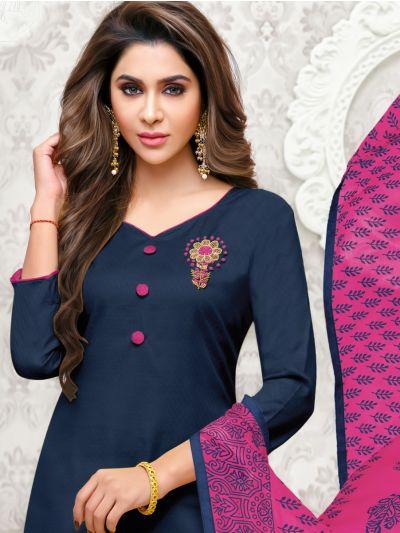 Isabella Women's Cotton Slub Dress Material - WCSDM9011