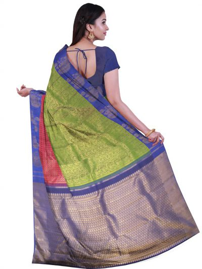 Vivaha Green Pure Kanchipuram Silk Saree