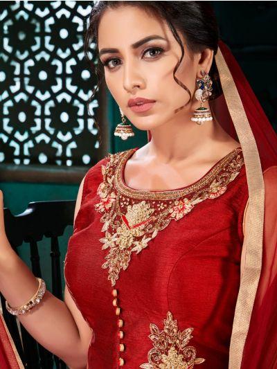 Khyathi Women's Exclusive Hand Work Readymade Salwar Kameez