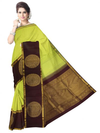 LKA2504222-Vivaha Exclusive Goddess Pure Kanchipuram Silk Saree