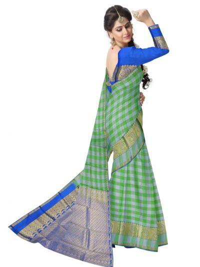 Bairavi Traditional Green Silk Saree
