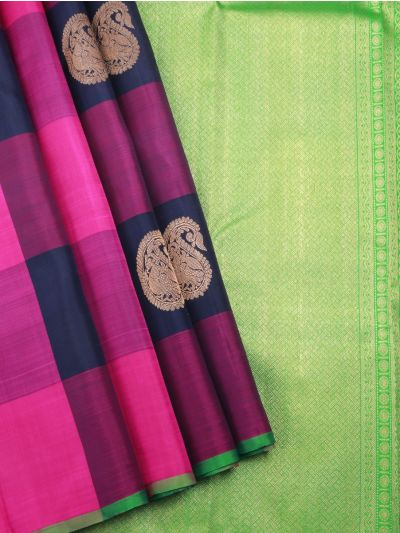 Estrila Kanchipuram Multi Silk Saree - LLB6002077