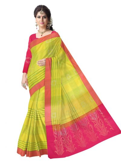 Kanmanie Soft Silk Multicolor Saree